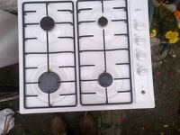 white AEG gas hob in excellent condition