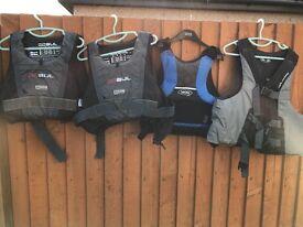 Life jackets sailing jet ski flotation buoyancy vests Gul neilpryde yak