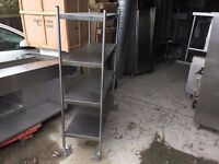 COMMERCIAL SHELVING RACKS SHOP KITCHEN FASTFOOD RESTAURANT CATERING STAINLESS STEEL TAKEAWAY BAR PUB