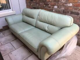 3 piece leather suite / sofa