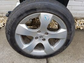 """Peugeot 3008 17""""alloy wheel with good tyre"""