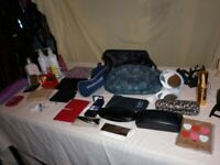 House Clearance. Purses. Spectacles cases. Toilet bags. Mirrors. Umbrella.