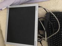 """17"""" monitor and keyboard"""