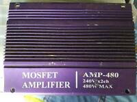 Sub and amps