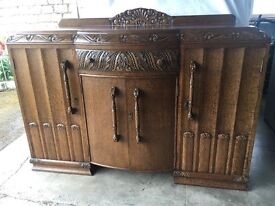 Jacobean Style Oak Sideboard - early/mid 20th century