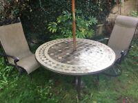 Heavy Duty Garden Table & 4 Swivel Chairs .