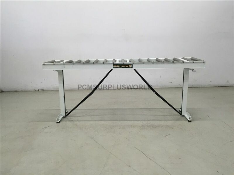 """Portable Roller HTC Conveyor 14.75"""" x 65.75"""" x 26"""" High ( Used and Tested )"""