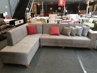 BRAND NEW CORNER SOFA - L SHAPE SOFA BED - STORAGE UNDERNEATH FAST DELIVERY