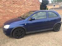 Navy Blue Vauxhall Corsa SXI+ with black alloys, 1.2 litre, 12 MONTHS MOT spares or repairs