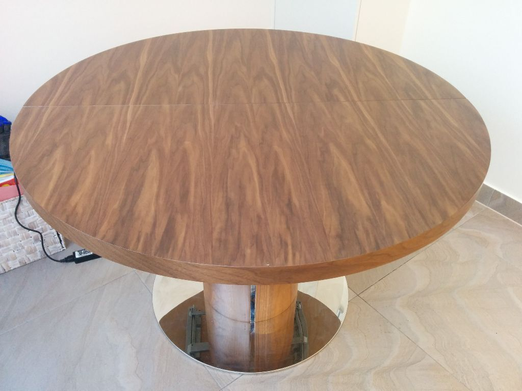round walnut dining table. Round Walnut Extending Dining Table (reduced For Quick Sale) W