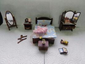 Sylvanian Vintage Master Bedroom lots of accessories I will combine postage please see description