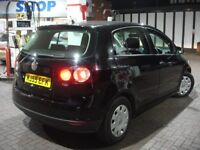 !!! VW VOLKSWAGEN GOLF PLUS 1.9 TDI PD S !!! 55 PLATE BLACK 5 DOOR !!! DIESEL !