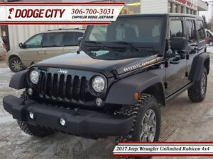 2017 Jeep WRANGLER UNLIMITED Rubicon   4x4   PST Paid - Heated L