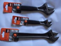 3 x New Bahco shifting adjustable spanners