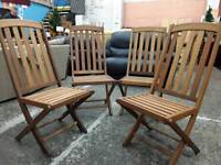 4 Hardwood Garden or Patio Chairs. Delivery Available