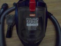 Nearly new Vax dynamo strike cyclone bagless vacuum cylinder