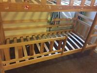 Solid Wood Bunk Bed + Solid Wood Table & Chairs + Tip Quality Bunk Bed Mattress - Great Condition