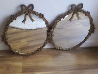 Two matching vintage mirrors