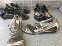 Ladies shoes 3 pair, size 8