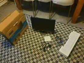 AOC e2270Swn 22 inches Widescreen TN LED Black Monitor (1920x1080/5ms/