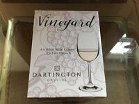 Darlington Vineyard Crystal White Wine Glasses - Set of 4 - Brand New