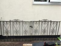Wrought iron garden gate & a pair of drive gates