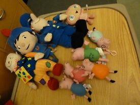 various soft toys,