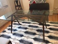 Rectangular Jensen dining table from West Elm - comfortably seats 6
