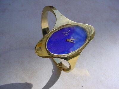 Fabulous Vintage Ladies Chopard 18K Gold, Lapis Dial, w/ Original Box. Ref. 5038