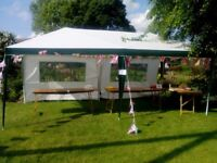 White marquee approx.3mtrsx6mtrs averagecondition.Suitable forparties,fetes,weddings etc.
