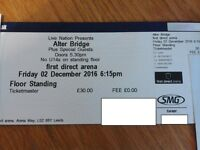 Alter Bridge / Volbeat Leeds Arena Standing Ticket 2nd December 2016