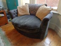2 seater swivel cuddle chair/love seat