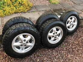 5x Alloy Wheels & Tyres - Off-road