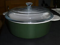 "Large Glass Casserole Dish with Lid - by Corning - 10"" / 25cm size"