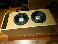 2x JBL GT5s + Custom Slot Port Box + Pioneer Amp