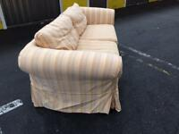 Large 3seater couch light yellow