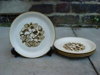 Kiln Craft Bramble Plates Retro Vintage Crockery