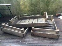 3 X wooden crates