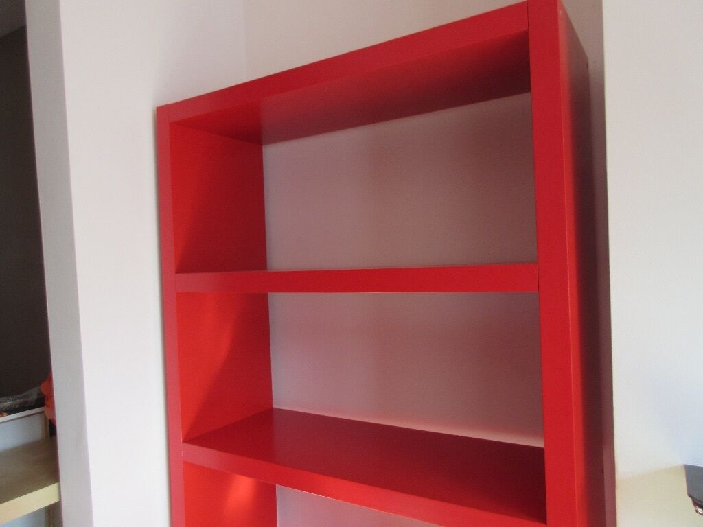 IKEA LACK bookcase in red hugely popular but now discontinued