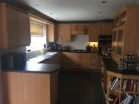 Kitchen and utility units plus some kitchen appliances including oven, hob & fridge