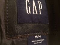 GAP Mens Dark Brown Leather Jacket M-L. Great condition.