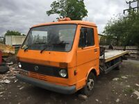 Vw lt40 breakdown recovery truck beaver tail xl ramps winch classic project barn find ready to go px