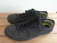 Black leather Converse - £20 or best offer!