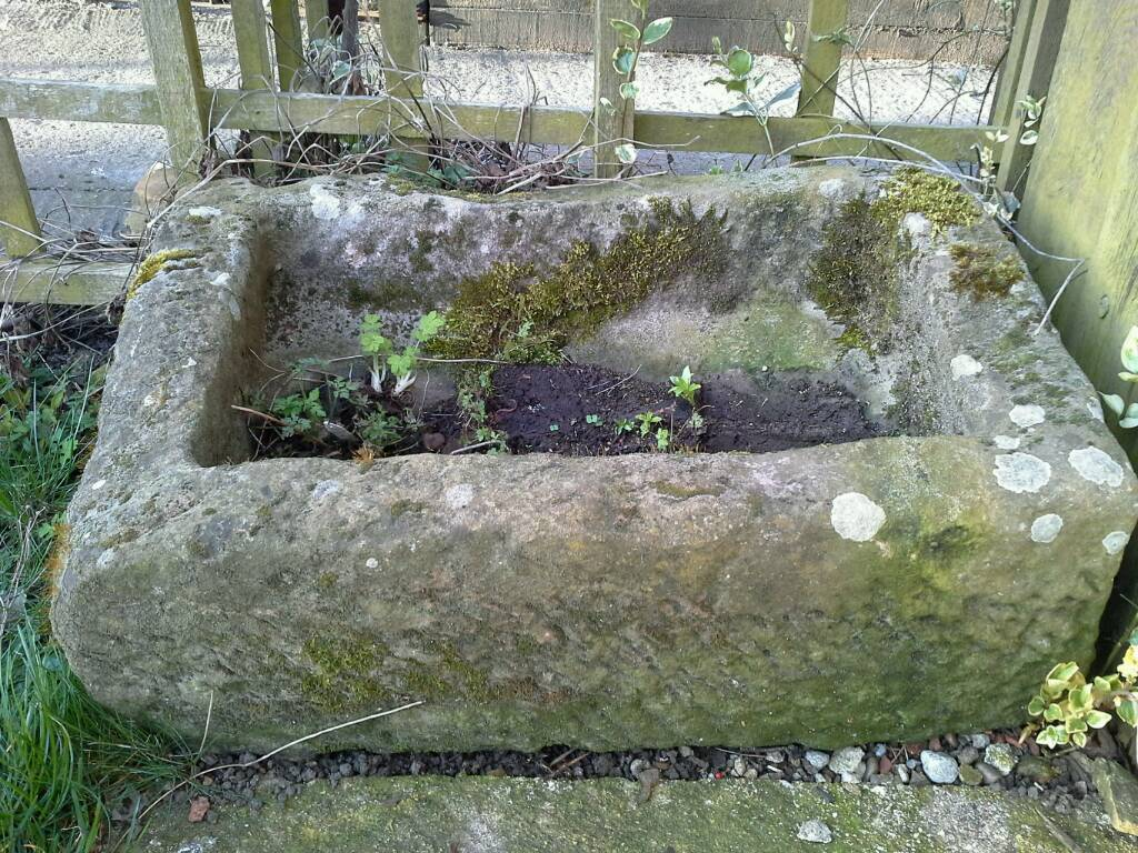 Stone Garden Planters And Troughs Old stone trough planter in helmsley north yorkshire gumtree old stone trough planter workwithnaturefo