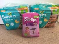 Pampers and pull ups
