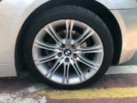18 inch bmw alloys with nearly new run flat tyres