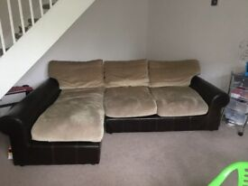 Right hand corner sofa and foot stall