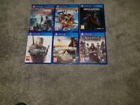 Games for ps4 mint condition 6 games