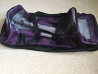 SSirocco 36 inch / 92cm Black, Grey & Purple Extra Large Rolling Holdall
