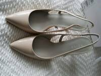 REISS size 40 or 61/2 nude sling back